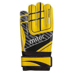 Вратарские перчатки Latex Foam MITER, желтый, р. 9, фото 2