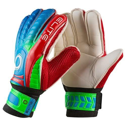 Вратарские перчатки Latex Foam ELITE, красно-зеленые, р.6