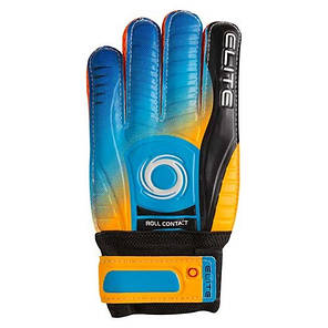 Вратарские перчатки Latex Foam ELITE, оранжево-голубой, р.7, фото 2