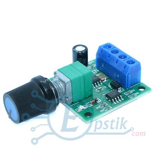 ШИМ регулятор скорости мотора, 1.8-15В DC, 2А