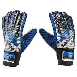 Вратарские перчатки Latex Foam MITRE, синий, р.6, фото 2