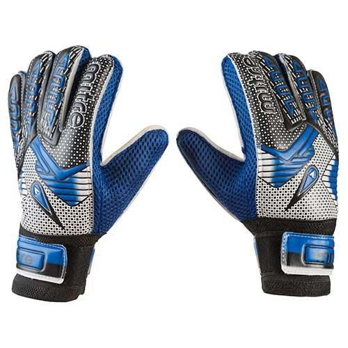 Вратарские перчатки Latex Foam MITRE, синий, р.7