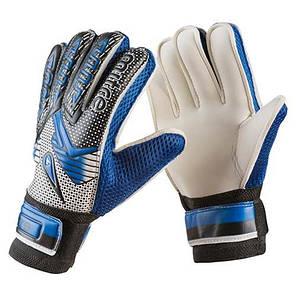Вратарские перчатки Latex Foam MITRE, синий, р.7, фото 2