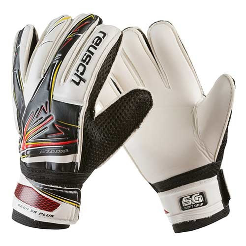 Вратарские перчатки Latex Foam REUSCH, черно-белые, р.7