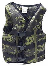 Страховочный жилет для плавания (вес человека 50-70 кг) Камуфляж