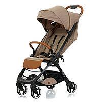 Светло-Бежевая прогулочная коляска для девочки и мальчика. Качественная детская коляска.Mioobaby Rocco Beige