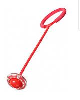 Светящаяся скакалка нейроскакалка крутилка с колесиком на одну ногу