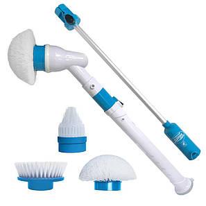 Электрическая щетка для влажной уборки SPIN SCRUBBER, телескопическая ручка, белая, фото 2