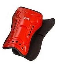 Щитки футбольные красные Sport 21cm резинка на липучке, фото 2