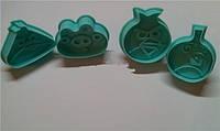 """Плунжер для мастики""""Angry Birds"""" 4шт. (код 01709)"""