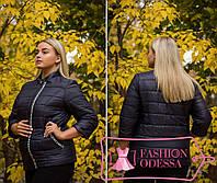 Женская темно-синяя  куртка утепленная 44-46 46-48 48-50,50-52 52-54,54-56, фото 1
