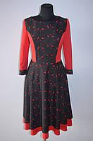 Платье красное с гипюром