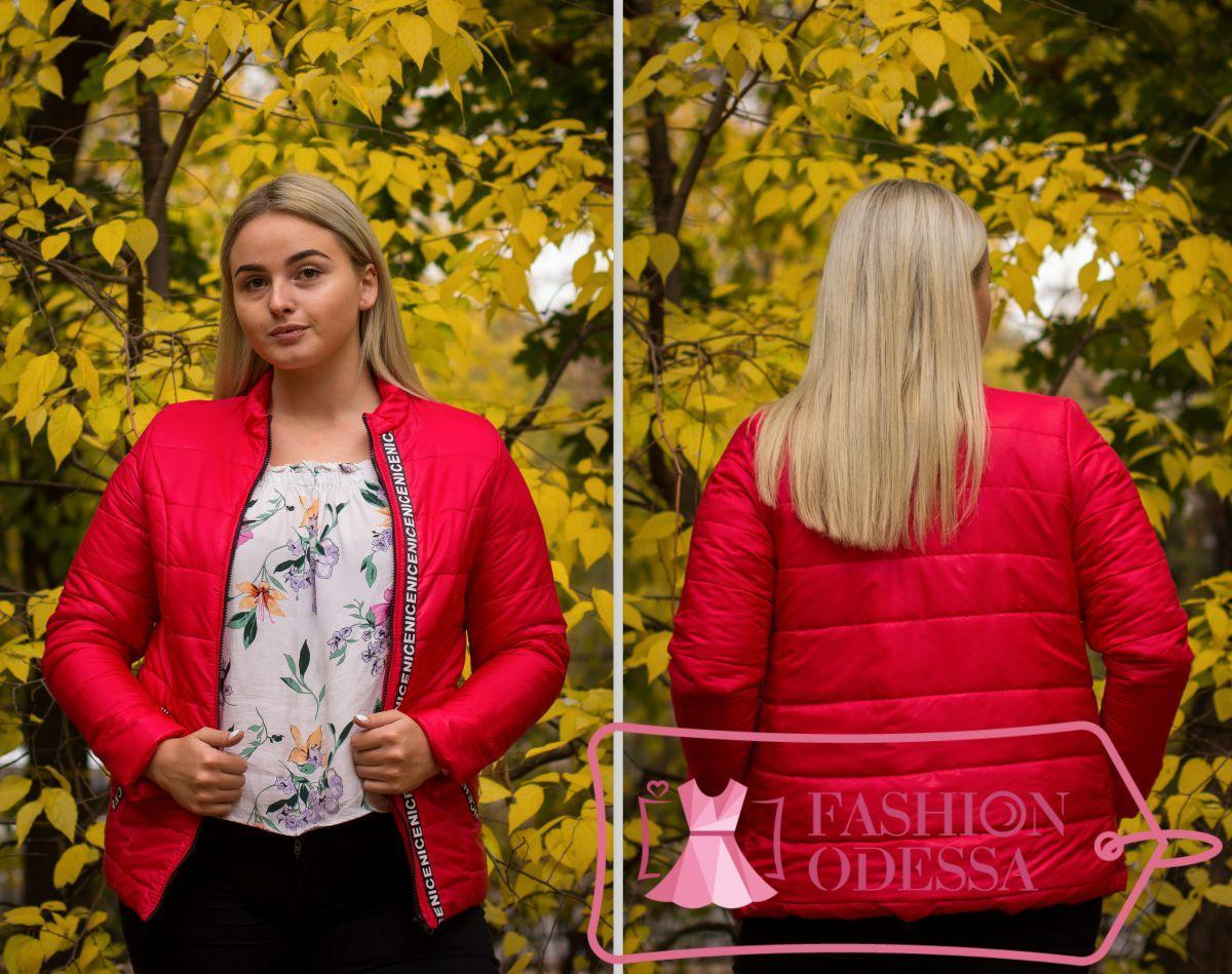 Женская красная куртка утепленная 44-46 46-48 48-50,50-52 52-54,54-56
