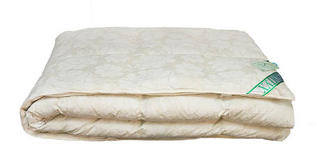 Одеяло пуховое Экопух 172х205см, 100% пуха, кассетное (крем), 1545, фото 2
