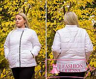Женская белая куртка утепленная 44-46 46-48 48-50,50-52 52-54,54-56, фото 1