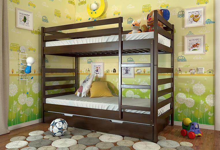 """Кровать двухъярусная детская """"Рио"""" TM ArborDrev, фото 3"""