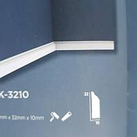 Плинтус напольный Decolux  2000Х32Х10 дюрополимер  DSK 3210 белый