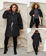 Теплая женская джинсовая куртка на овчине,Турция 48-50,52-54 56-58