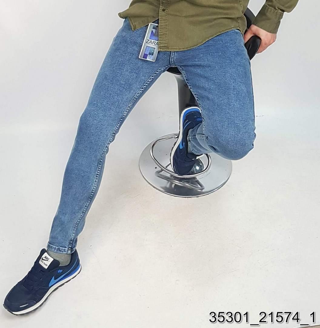 Джинси бренд zara Голубой 97% коттон 3% лайкра арт.35301 Турция 32(р)