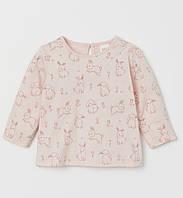 """Лонгслив кофта для дівчаток """"Кролики"""" H&M розмір 12-18 місяців"""