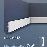 Плинтус напольный Decolux  2000Х66Х12 дюрополимер  DSK 6612 белый