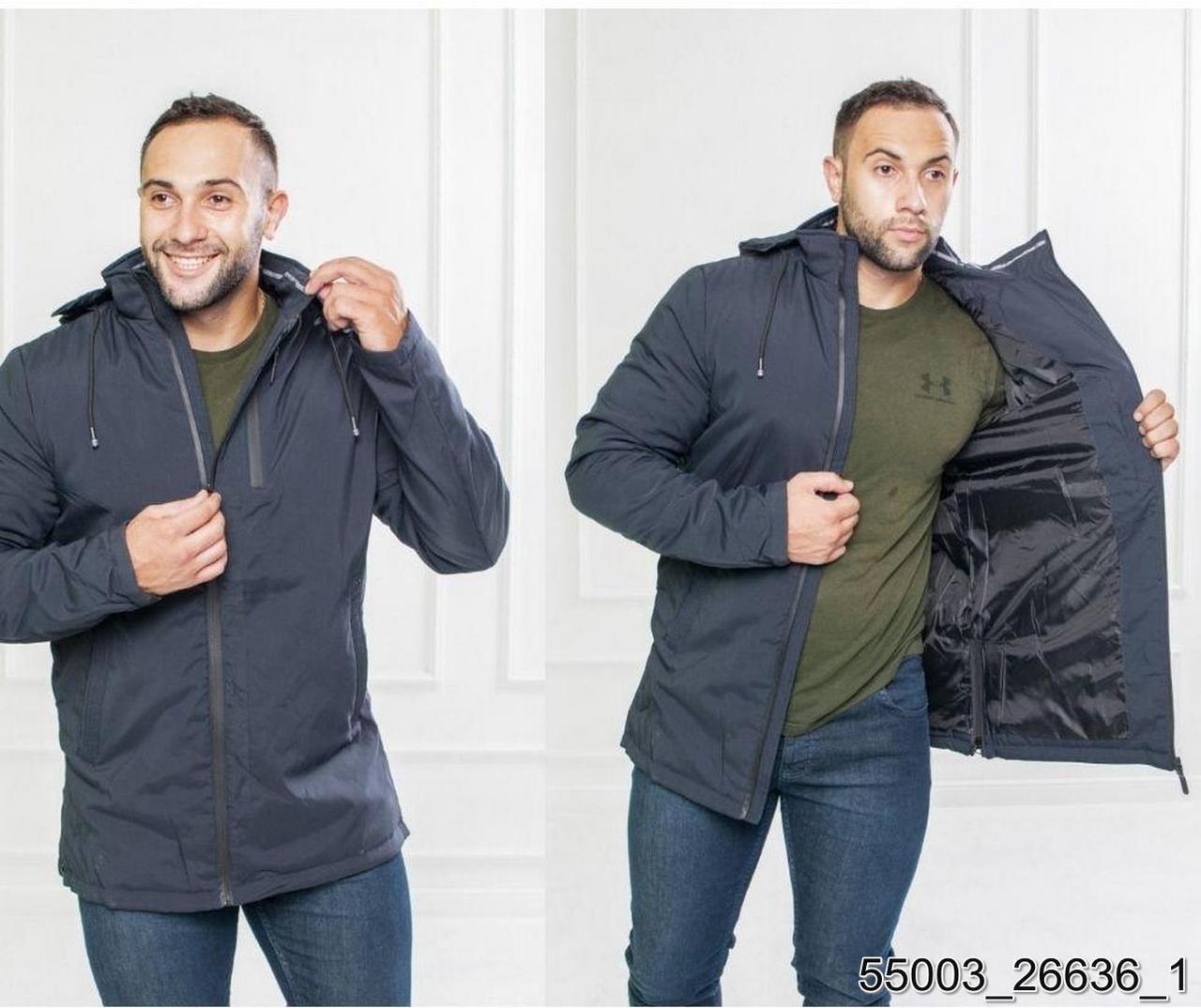 Куртки демисезон бренд  С&V Мужской Темно синій 65% коттон 35% полиэстер арт.55003 46(р)