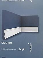 Плинтус напольный Decolux  2000Х71Х11 дюрополимер  DSK 7111 белый