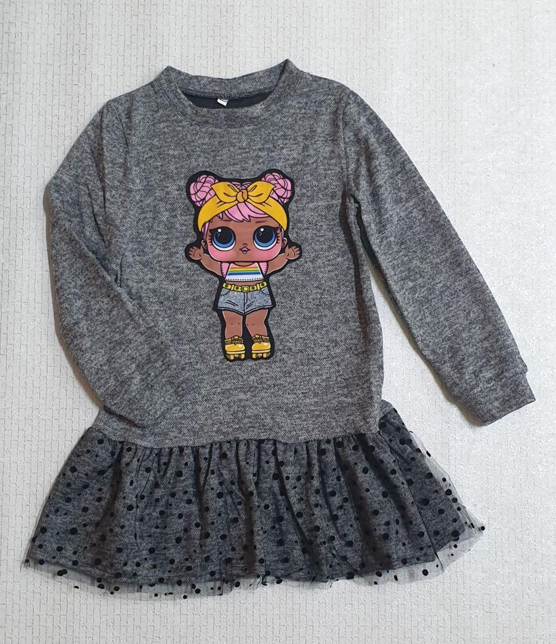 Темно сіра сукня Лолла на дівчинку. На ріст 122 128 134 140 см Україна