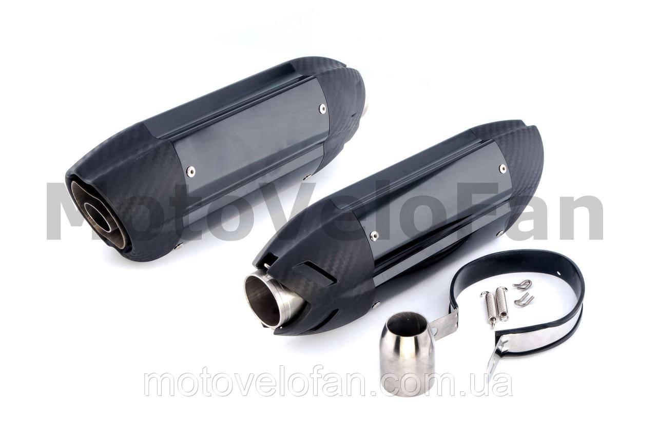 Глушитель (тюнинг)   460*130mm   (нержавейка, три-овал, карбон светлый, прямоток, mod:9)   118