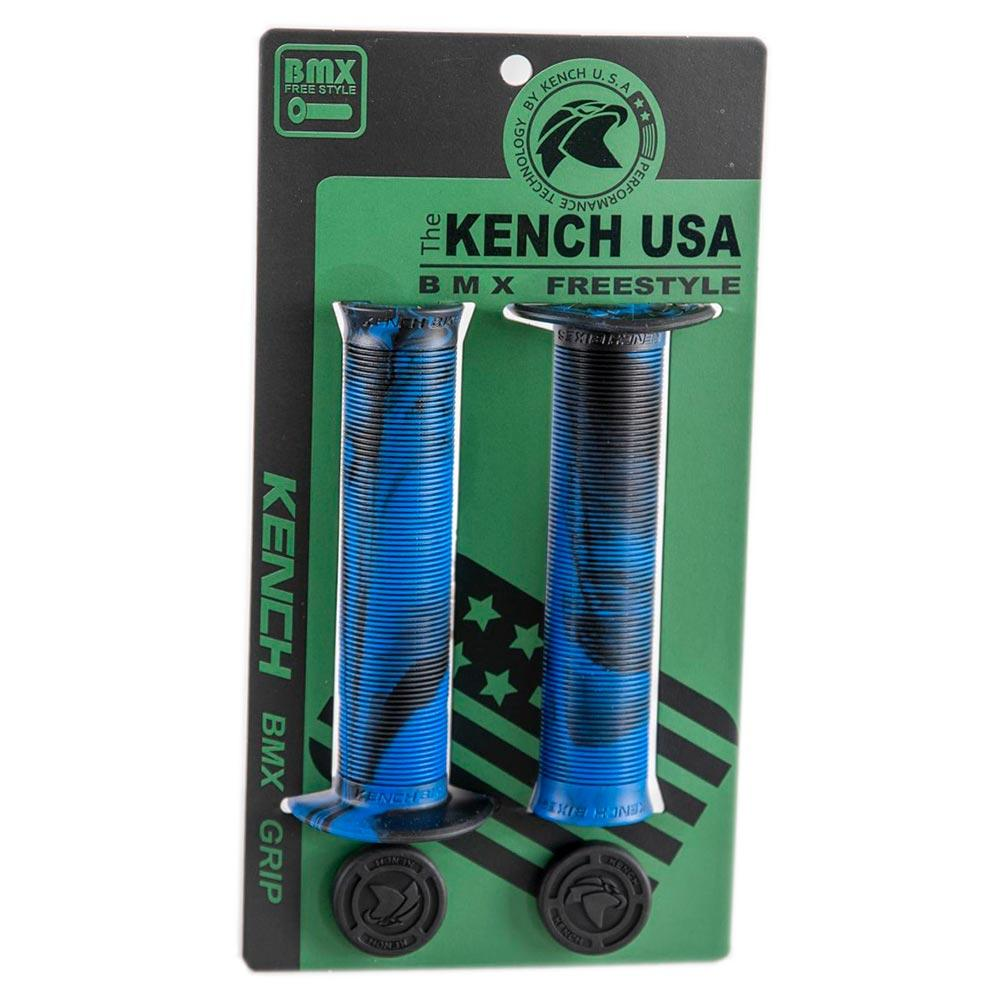 Грипсы с фланцем для BMX Kench KH-GP-01 140мм черно-синие