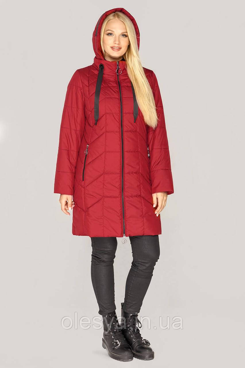 Демисезонная удлиненная куртка Берта тм MioRichi размеры 50- 60