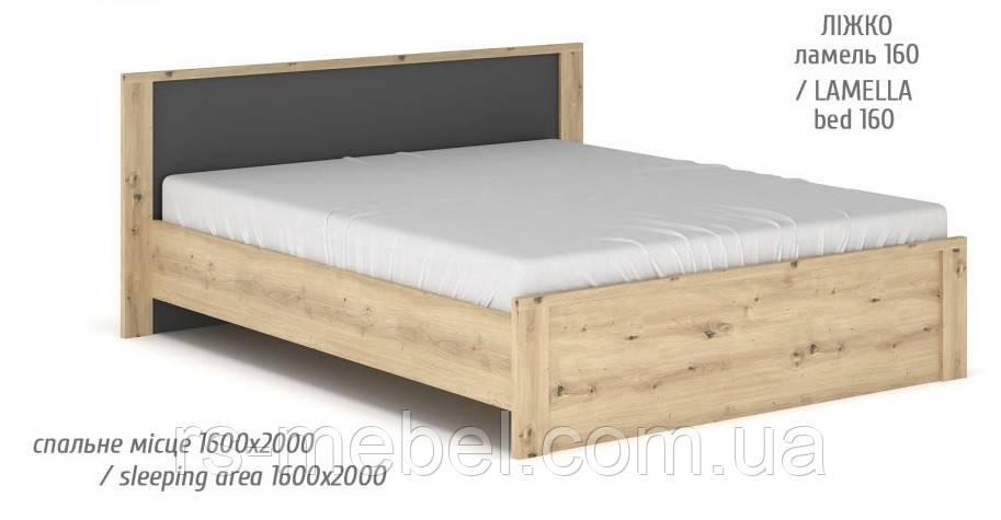 """Ліжко 160 """"Домініка NEW"""" (Мебель-Сервіс)"""