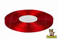 Лента атласная красная 0,6 см длина 33 м бобина