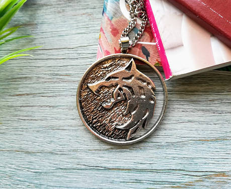 Кулон подвеска  медальон Ведьмака Witcher Вариант 4, фото 2