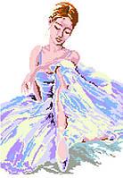 """Схема для вышивки нитками """"Балерина"""""""