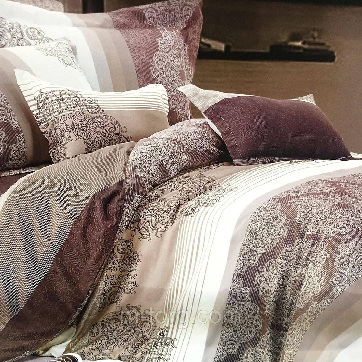 """""""узоры"""" постельное белье Elway Premium евро размер 200*220 см,ткань сатин 100% хлопок"""