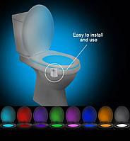 Ночник светильник подсветка в туалет LED с датчиком освещения и движения