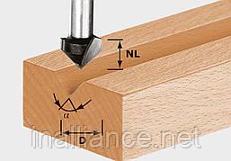 V-образная пазовая фреза HW S8 D14/7/90° хвостовик 8 мм Festool 490999