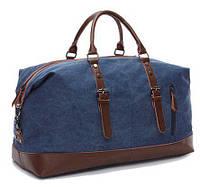 Дорожная сумка текстильная средняя Vintage 20084 Синяя (Pro_24)