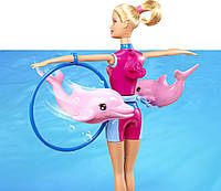 "Кукла Барби из серии ""Я могу быть....тренер дельфинов""  Barbie I Can Be Splash and Spin Dolphin Trainer Doll"