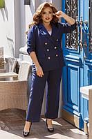 Жіночий костюм двійка великого розміру.Розміри:48/58+Кольору, фото 1