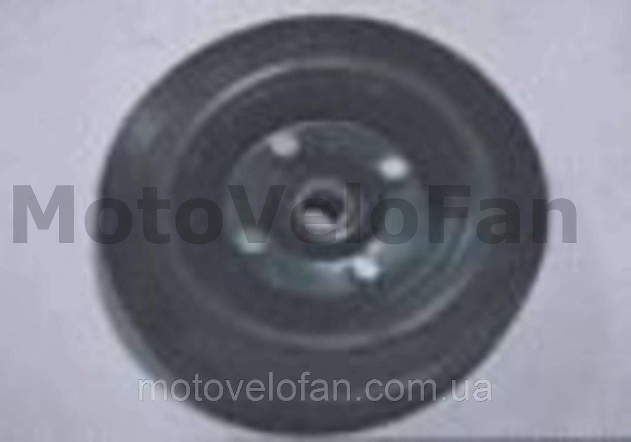 Колесо для тачек и платформ (литая резина)   (200/50- 100mm, под ось 20mm) (2 подшипника)   MRHD