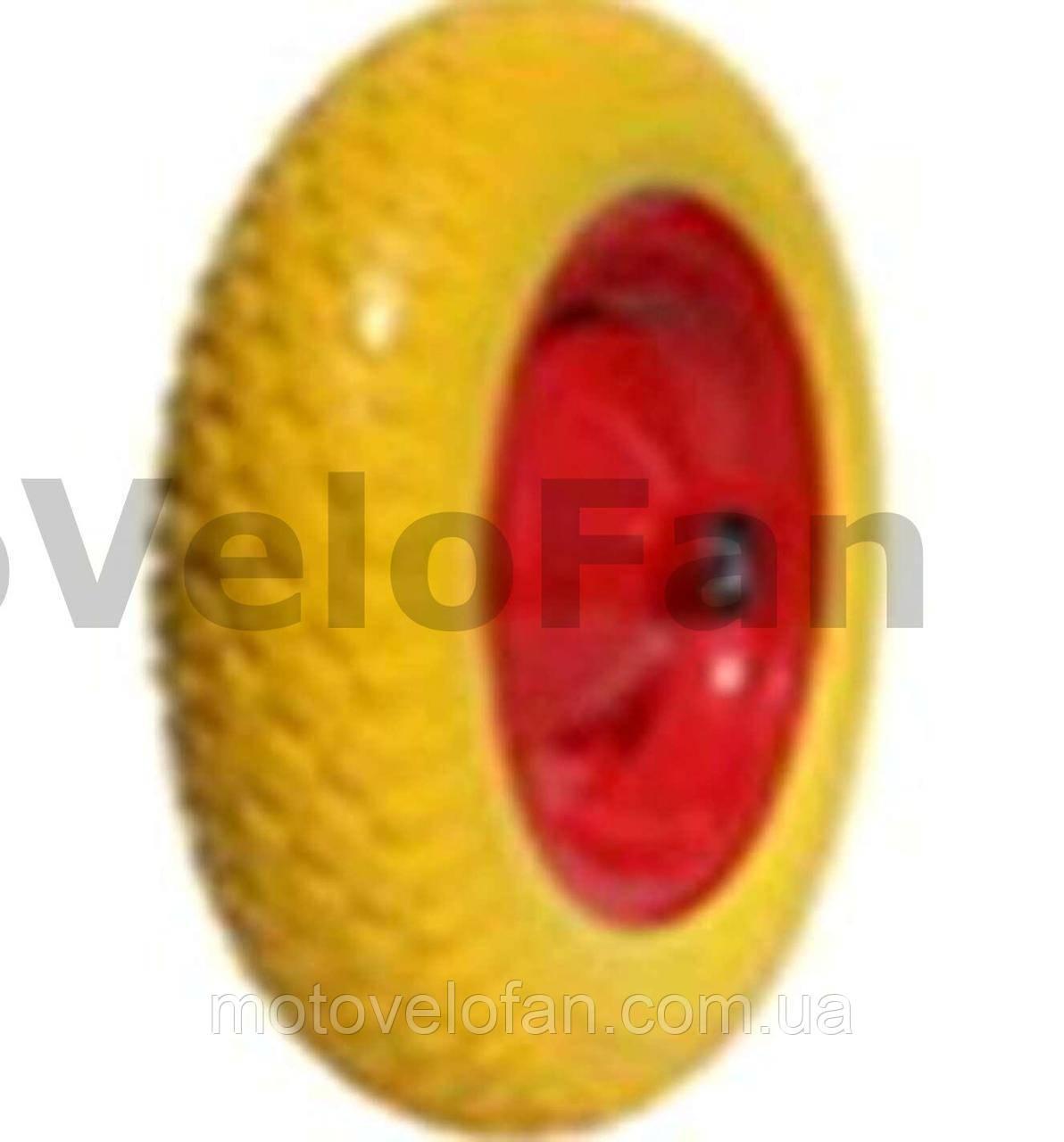 Колесо   3,50 -8   TL   (бескамерное, под ось D-12мм )   (силикон, желтое)   ELIT