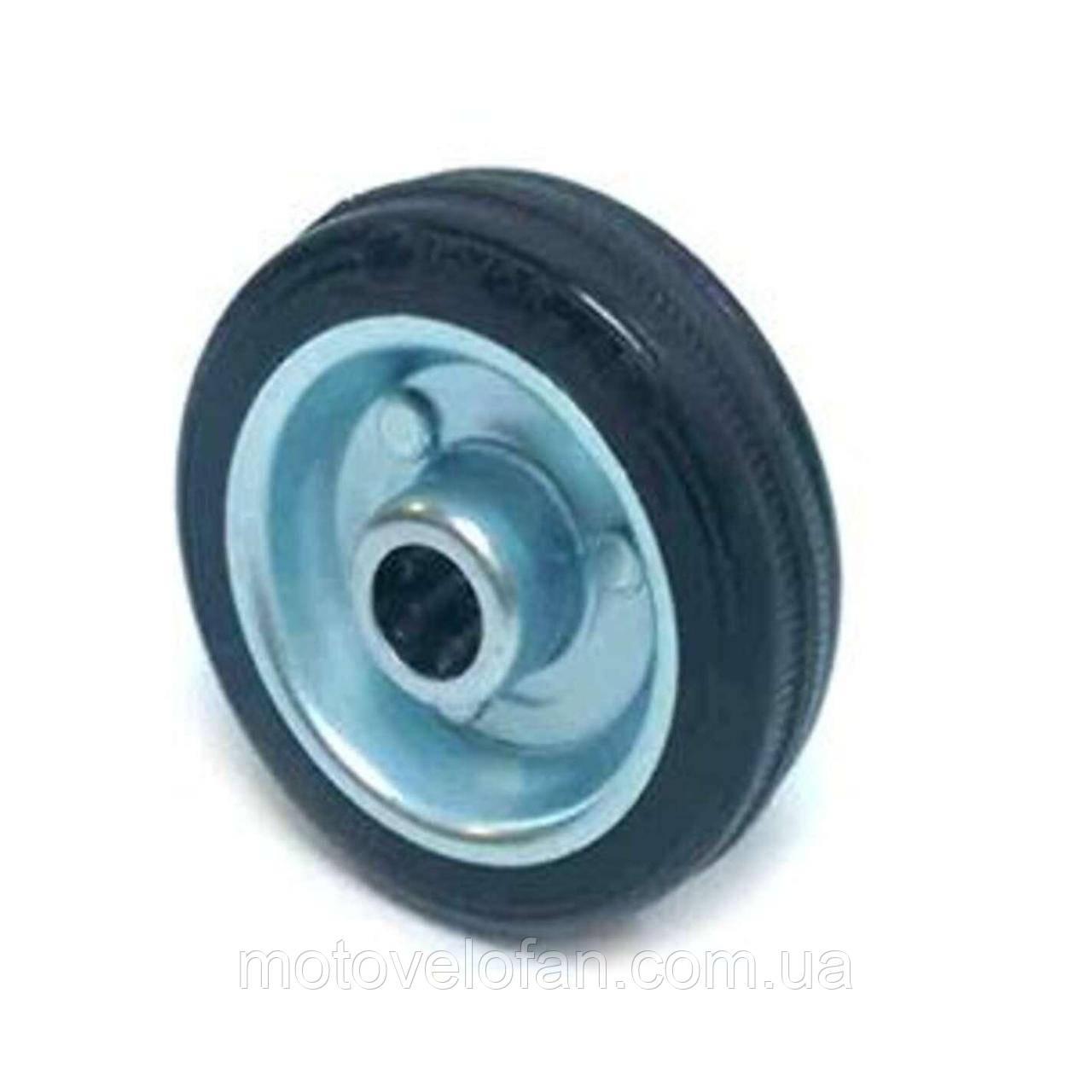 Колесо для тачек и платформ (литая резина)   (50mm, ступица 40mm, под ось 6mm)   ELIT