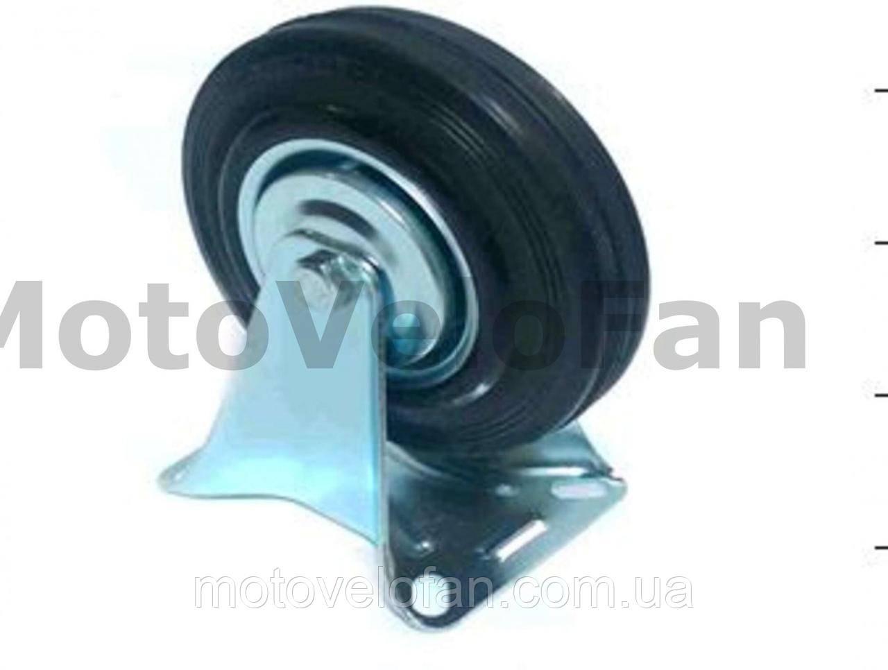 Колесо для тачек и платформ (литая резина) (в сборе с прямым креплением)   (160mm)   ELIT