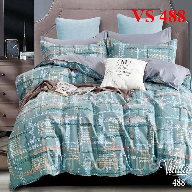 Двоспальне постільна білизна, сатин, Вилюта «Viluta» VS 488