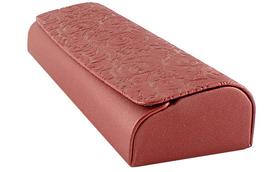 Футляр на магните, из пресс кожи с рисунком, красный (155х50х27)