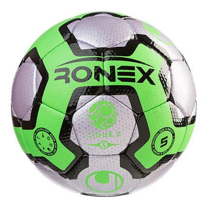 Мяч футбольный Cordly Dimple Ronex (UHL), зеленый/серый, фото 2
