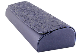 Футляр на магните, из пресс кожи с рисунком, синий (155х50х27)