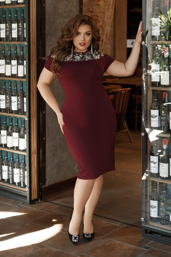 Женское нарядное платье большого размера. Размеры:48/50,52/54,56/58 +Цвета